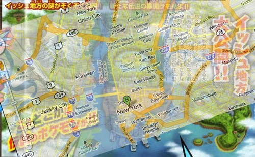 pokemon black map. with a Google Maps image