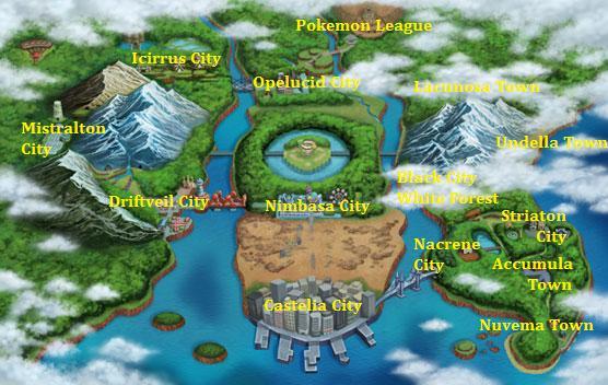 English Town Map Pokejungle Luvdisc , chinchou , krabby. pokejungle