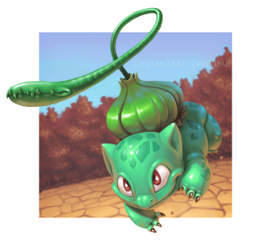 bulbasaur used vine whip by twarda8