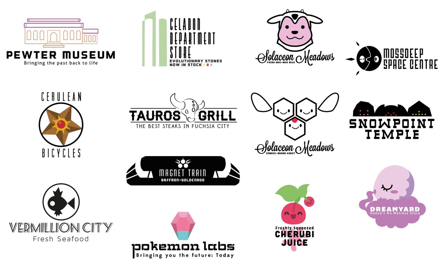 Amazing Pokemon Logos Created By Fan