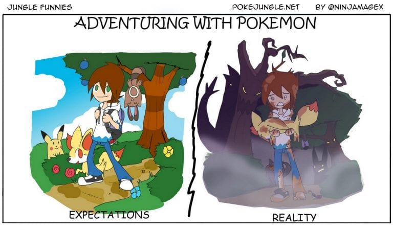Jungle Funnies #8: Pokémon Adventures IRL