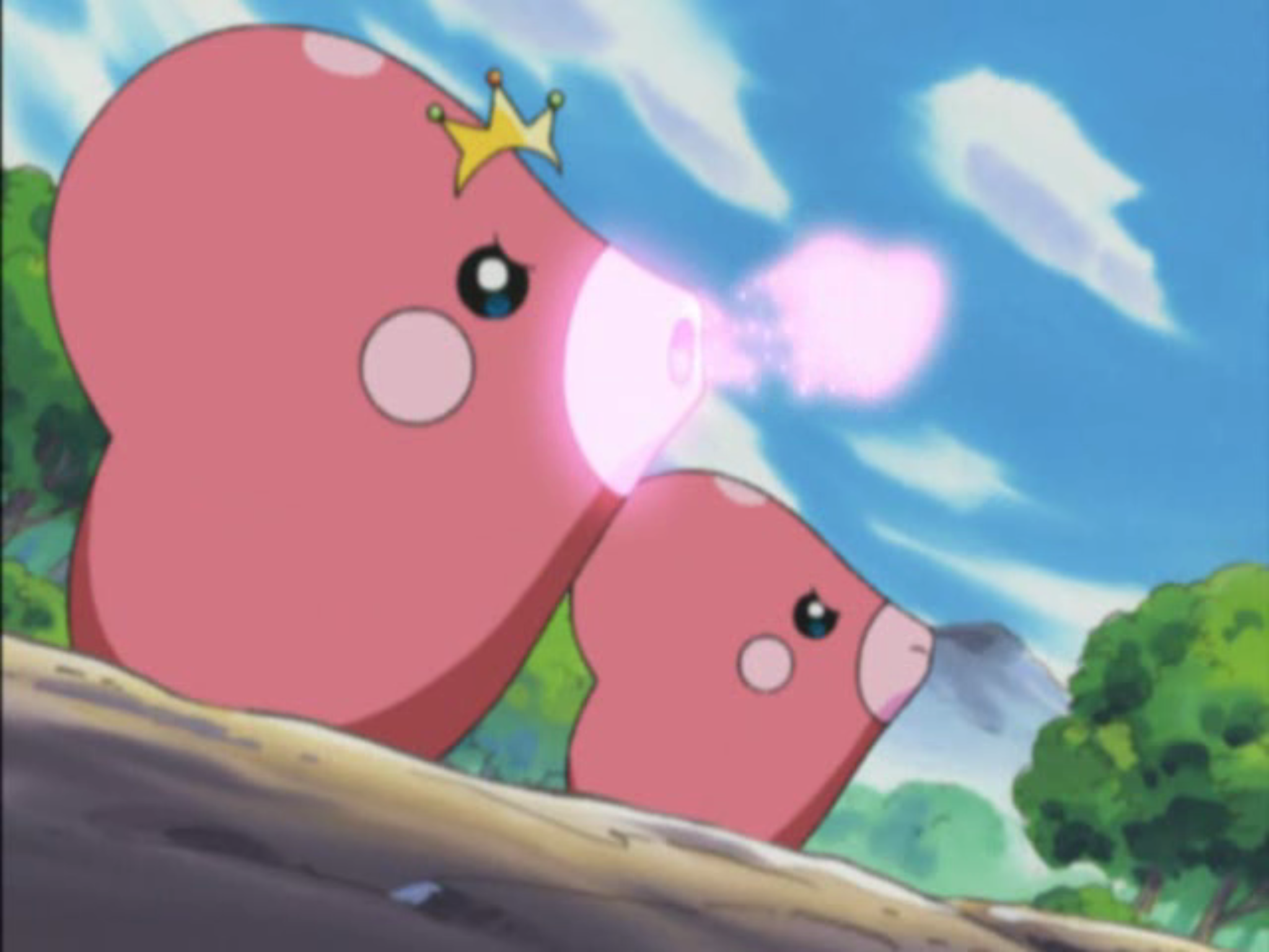 Image result for luvdisc pokemon