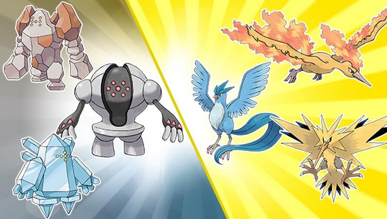 Pokemon Legendary Birds Images