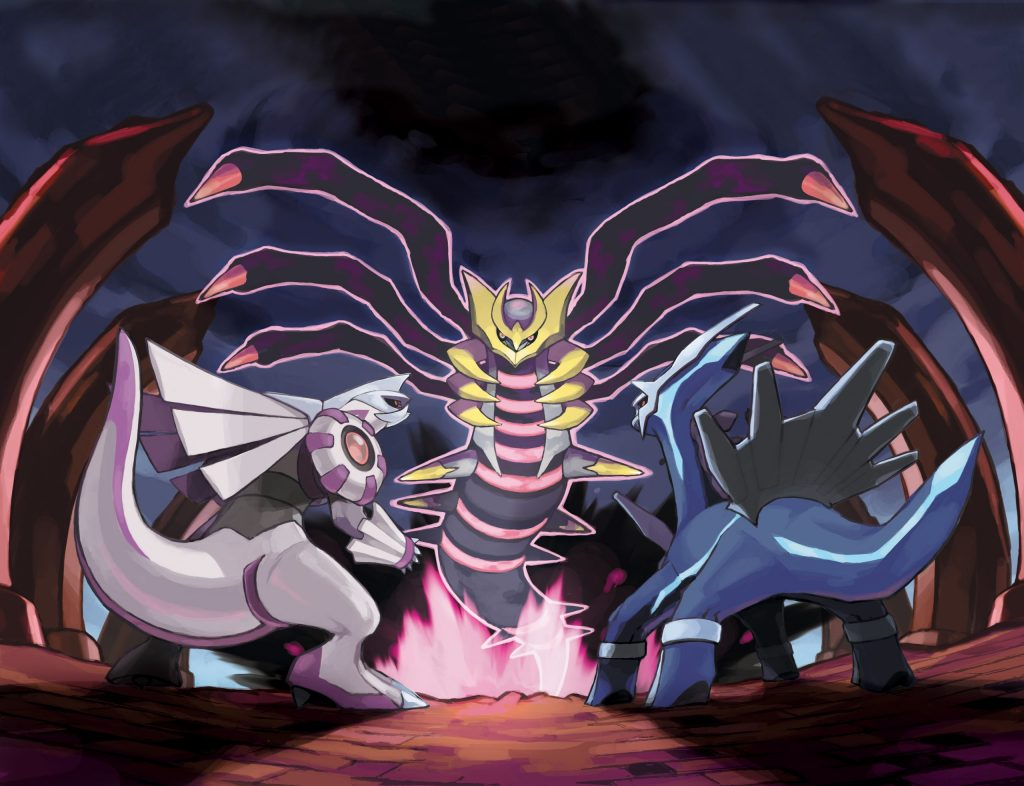 Giratina, Palkia and Dialga