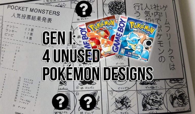 Four Unreleased Pokémon Designs Shown for First Time