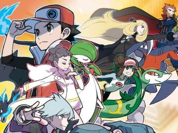Section of Pokémon Masters key art
