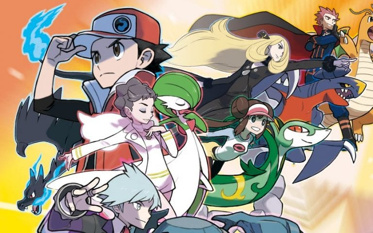 Section of Pokémon Masters key art