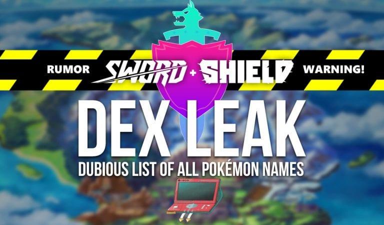 FAKE: Pokémon Sword & Shield Pokédex Leaks