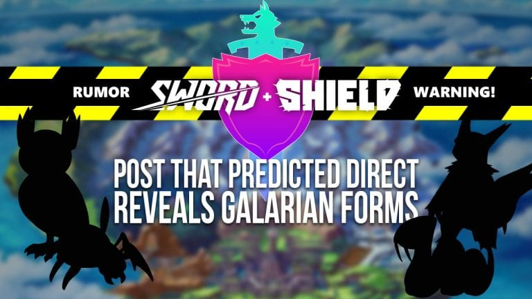 Galarian Form rumor for Sword & Shield