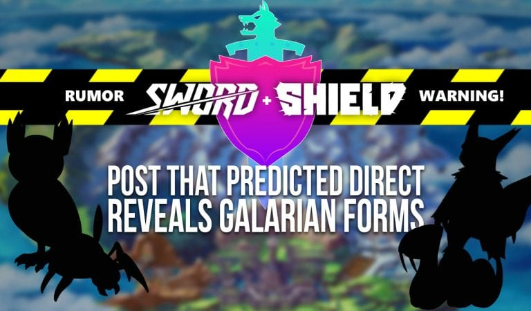 RUMOR: Pokémon Direct Predicted, Along With Galarian Form Details