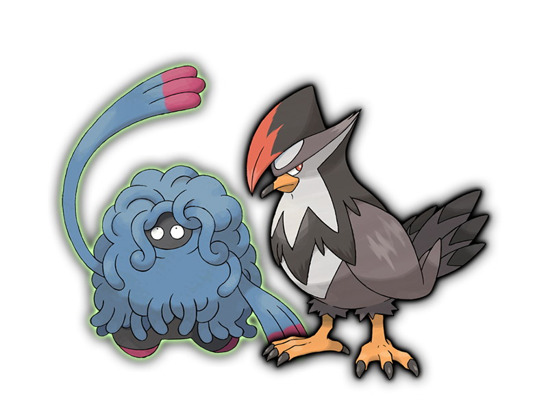 Tangrowth and Staraptor
