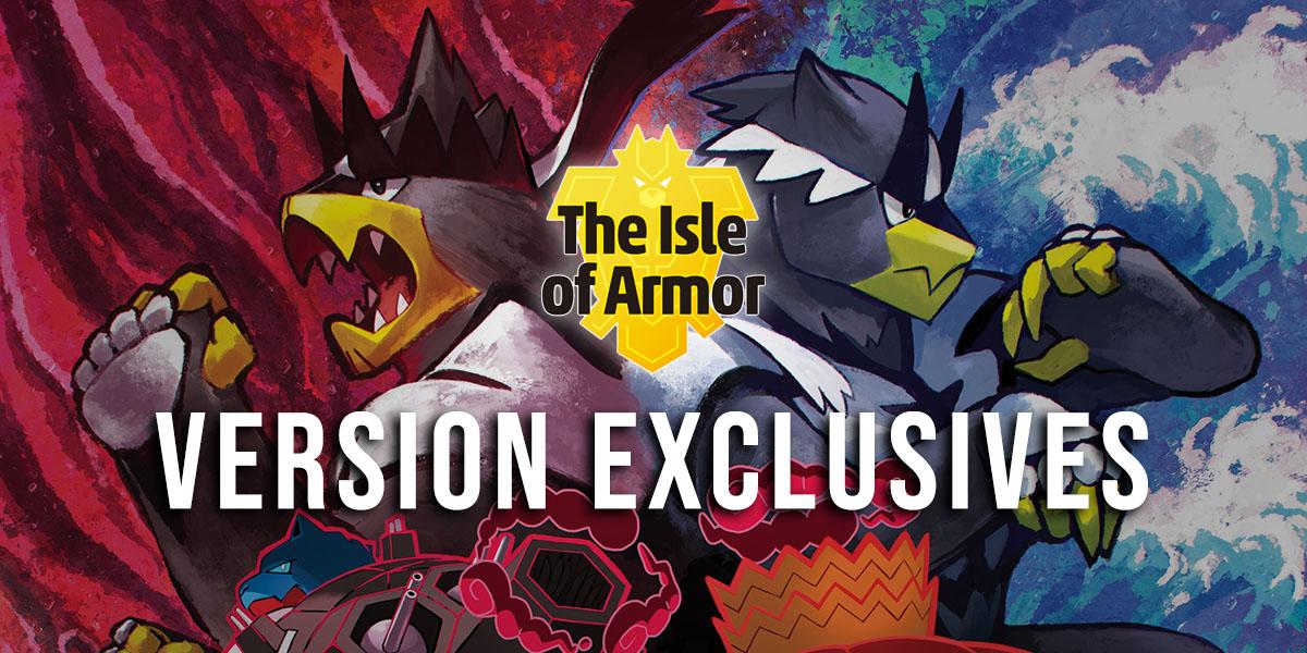 Version Exclusive Pokemon In The Isle Of Armor Pokejungle